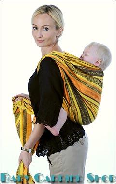 Слинг-шарф намотка РЮКЗАК ЗА СПИНОЙ (ЗАСПИННАЯ НАМОТКА)