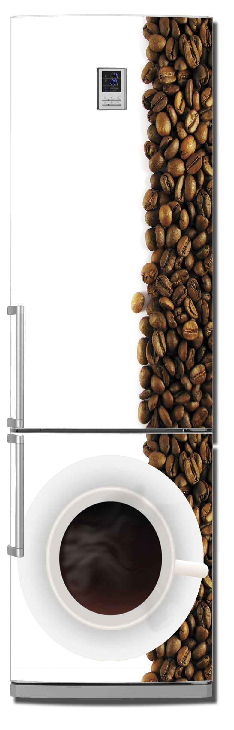 Наклейка на холодильник Кофе 3. Дзен