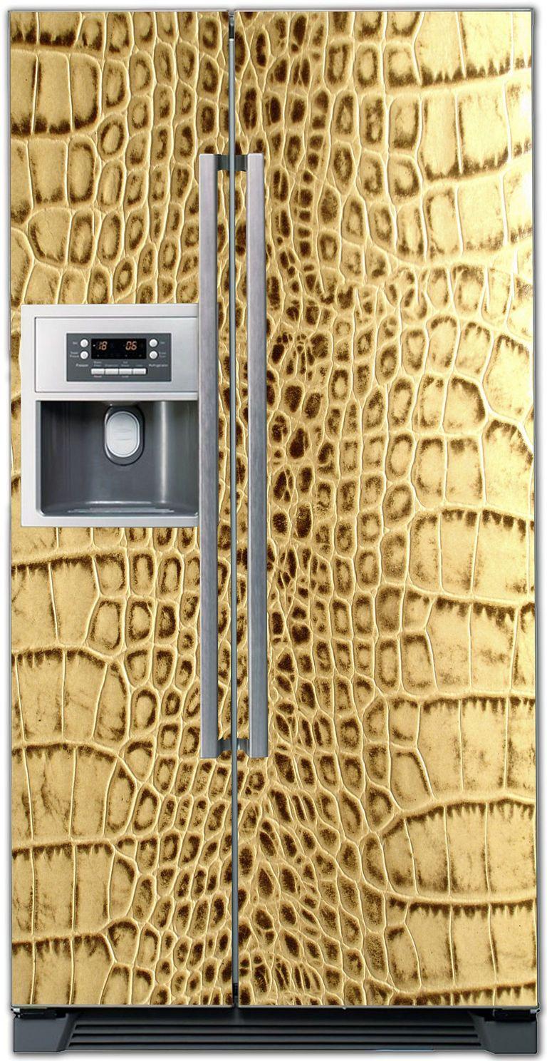 Наклейка на холодильник - Кожа 7