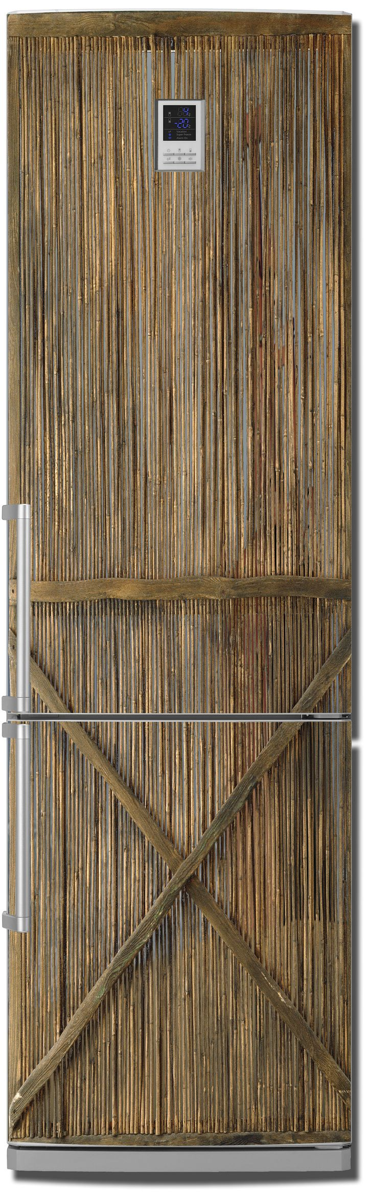 Виниловая наклейка на холодильник - Тростник