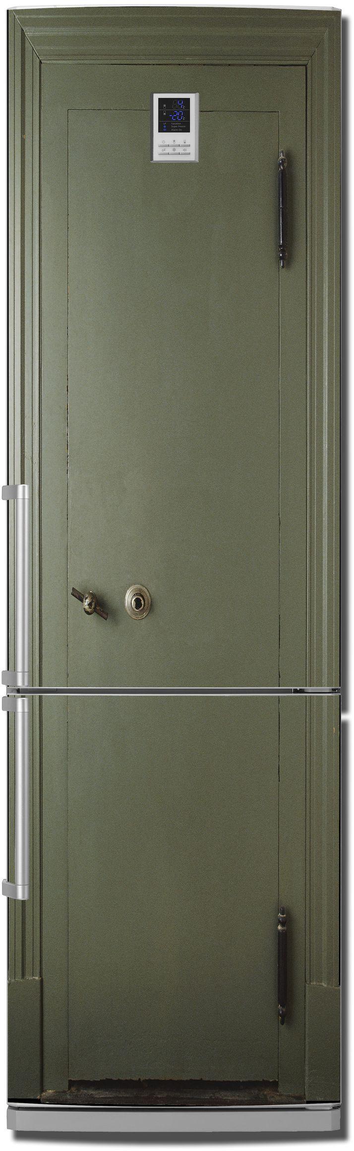 Виниловая наклейка на холодильник - Сейф.