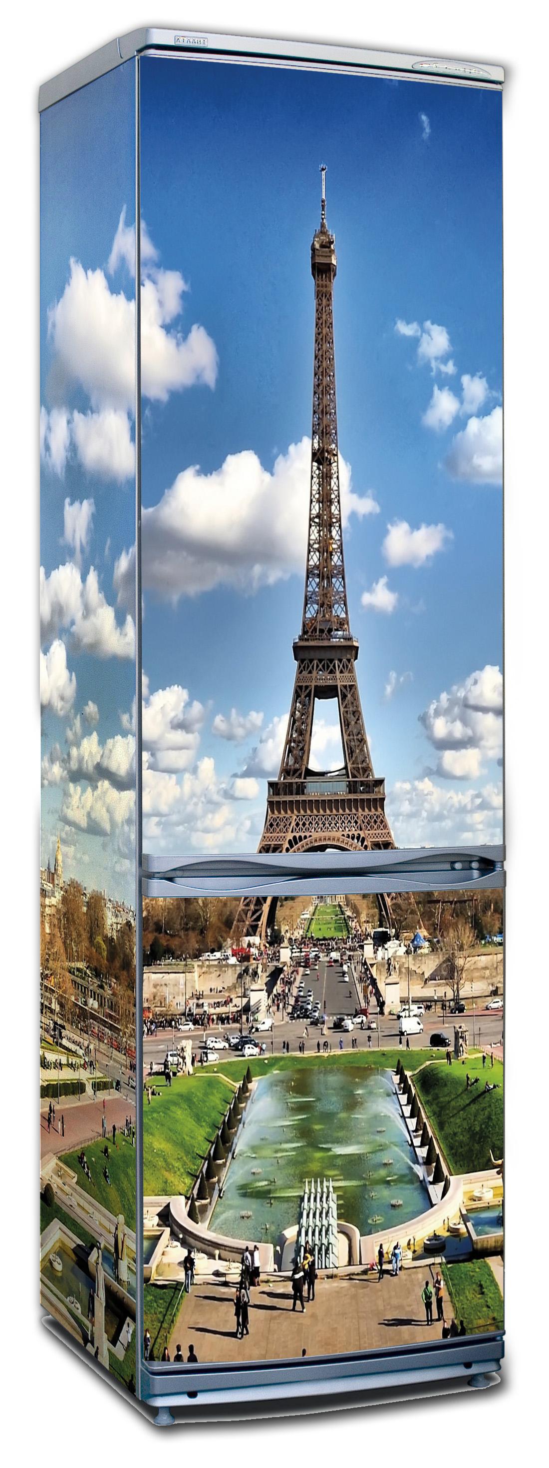 Наклейка на холодильник - Париж 2.