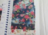 цветок печати джинсовой ткани