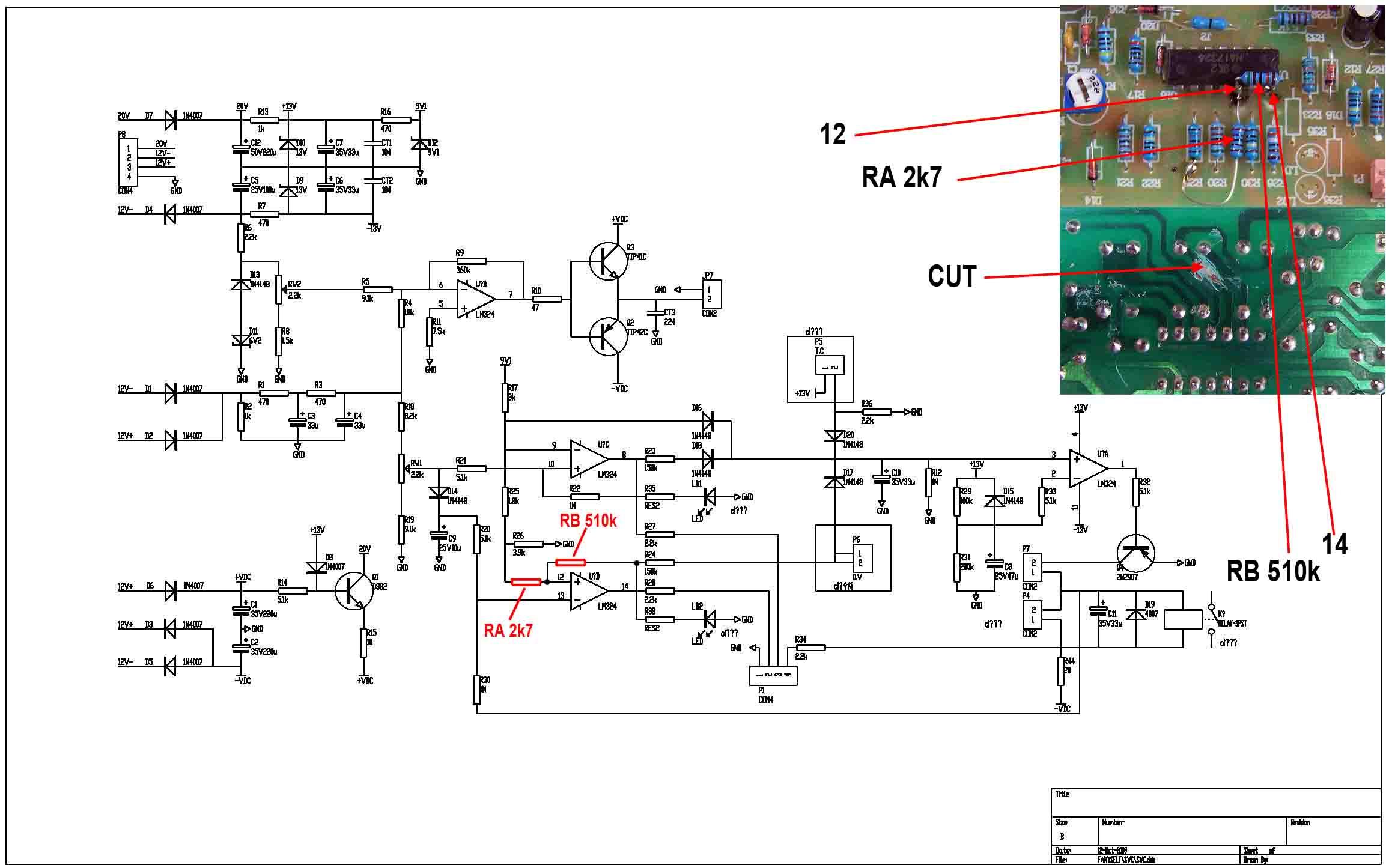 Схема контроль сетевое напряжение