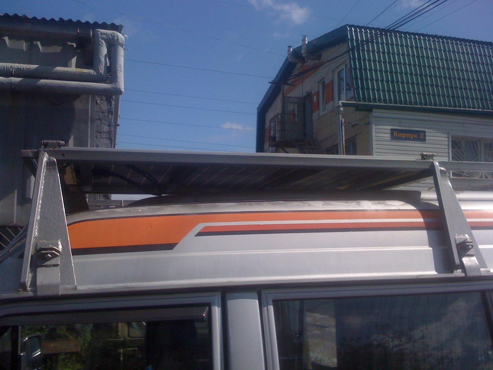 Вид сбоку на багажник (один из предварительных вариантов)