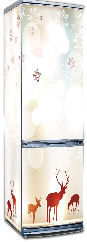Наклейка на холодильник - Северное сияние 2