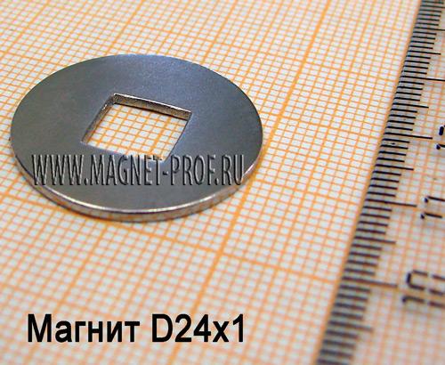 Магнит N33 D24x1мм.