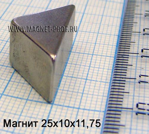 Магнит N33 25x10x11,75мм.