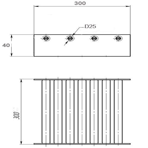 ПРИМЕНЕНИЕ: Магнитный сепаратор монтируетсяВ ПРЯМОУГОЛЬНЫЕ...  Артикул магнита: sep300х300х40mm`45 Размер магнита...