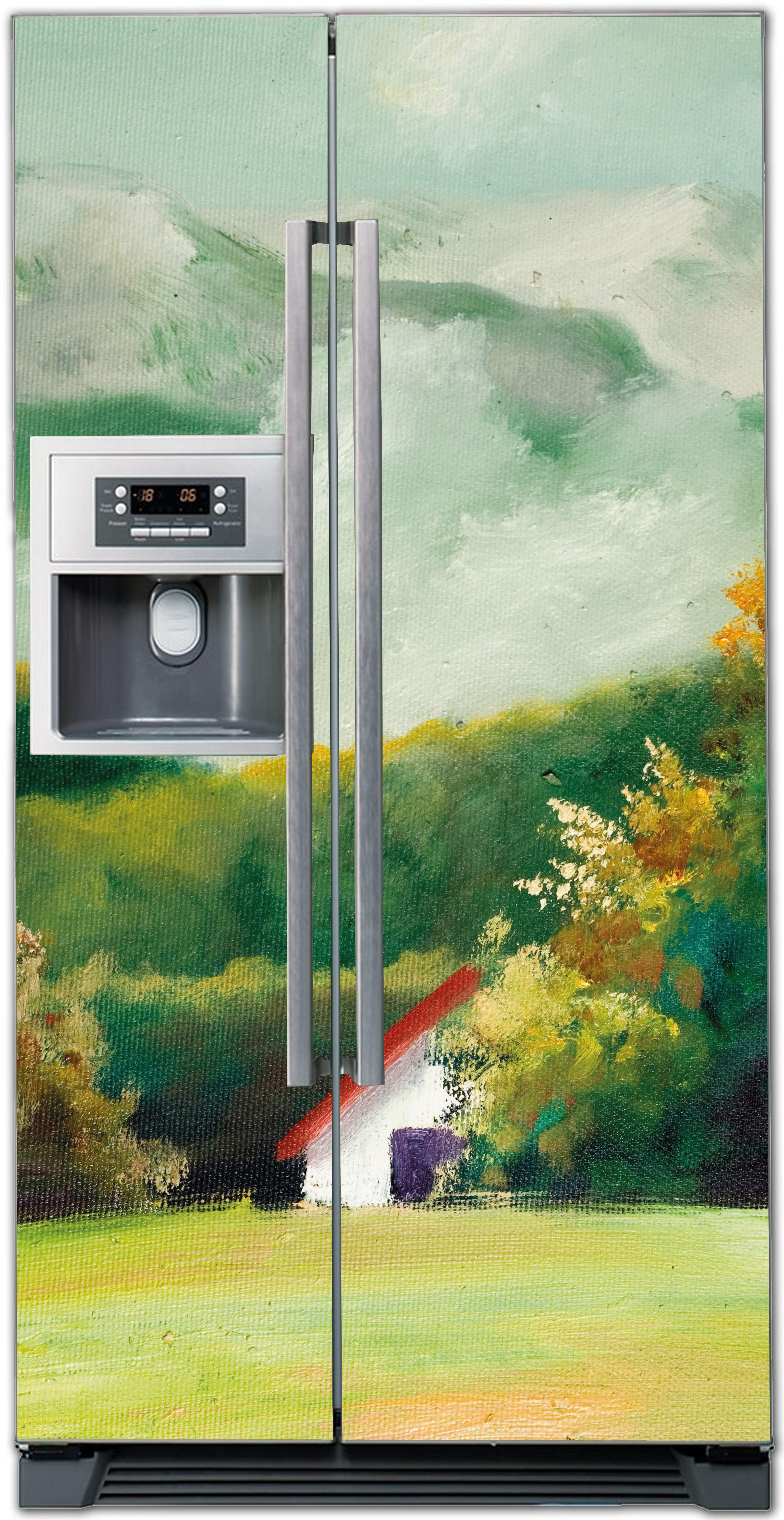 наклейка на холодильник - пейзаж 1