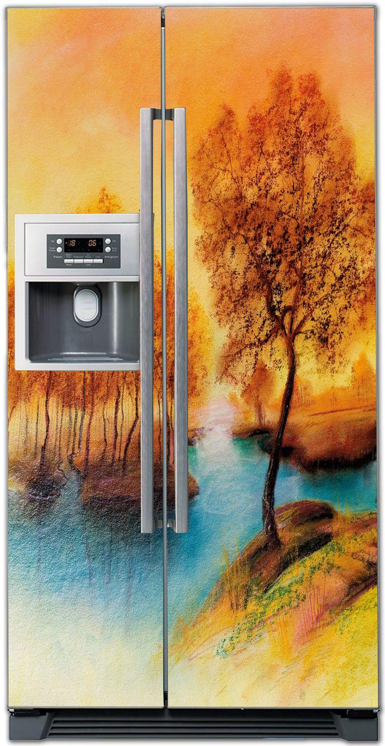 Виниловая наклейка на холодильник - Пейзаж 2