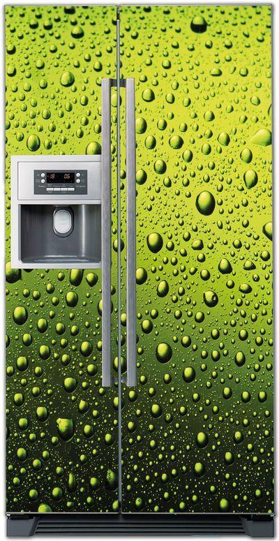 Виниловая наклейка на холодильник - Капли. http://stickers-fridge.com/