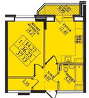 Однокомнатная квартира в ЖК Северная долина