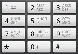пример клавиатуры телефона :)