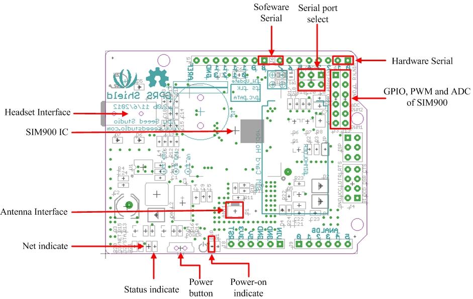 Adafruit FONA 800 Shield - Voice/Data Cellular GSM for