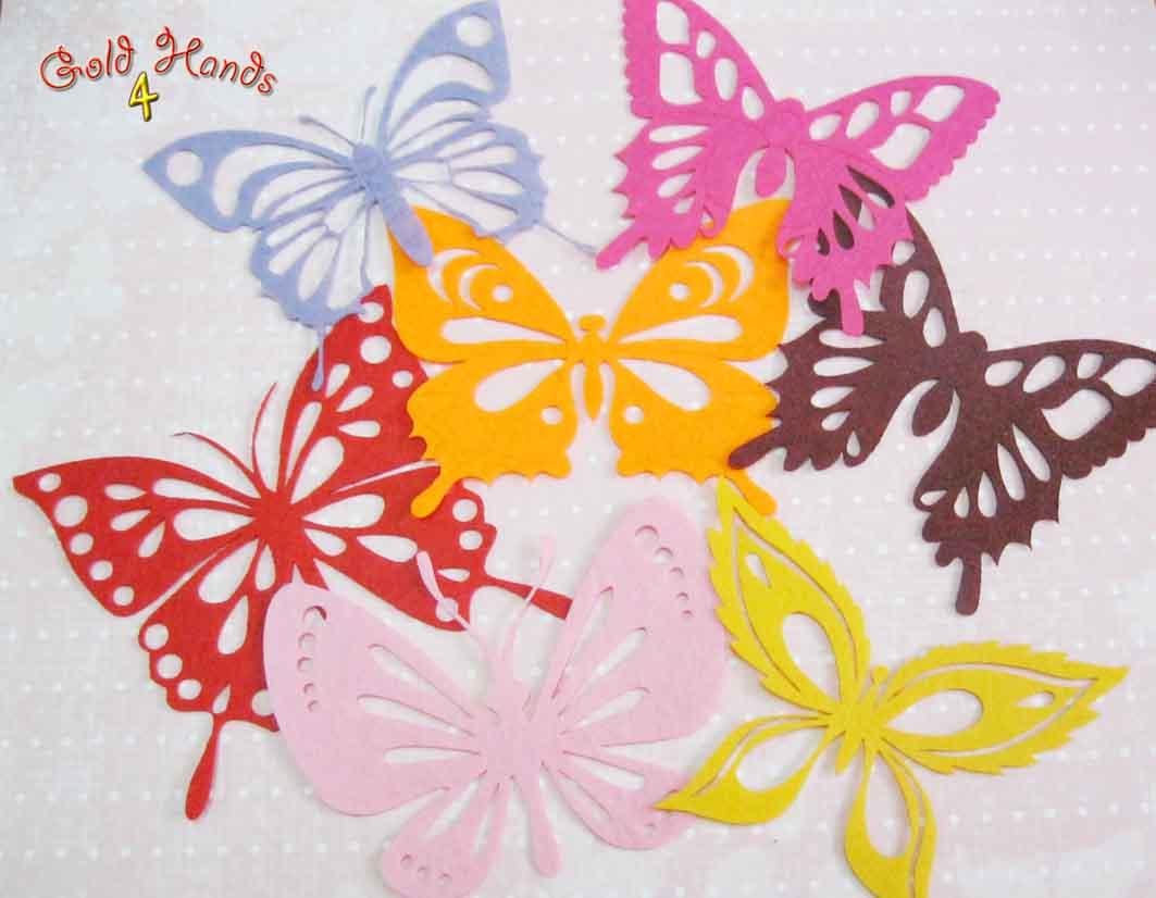 Бабочка для мальчика из фетра своими руками