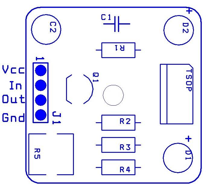 Подключение ИК датчика.