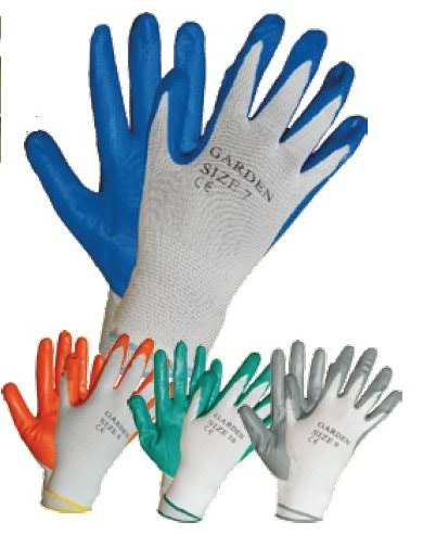 рабочие перчатки с нитриловым покрытием