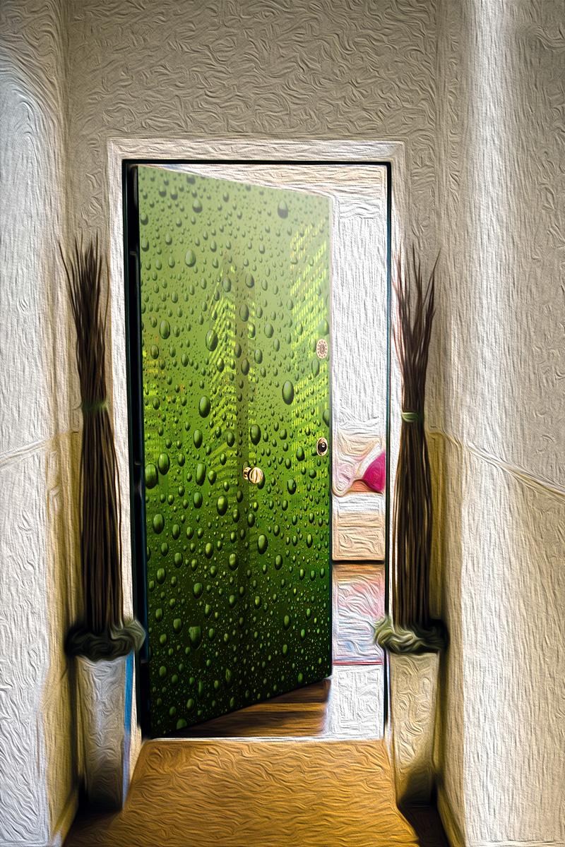 Наклейка на дверь - Капли | магазин Интерьерные наклейки