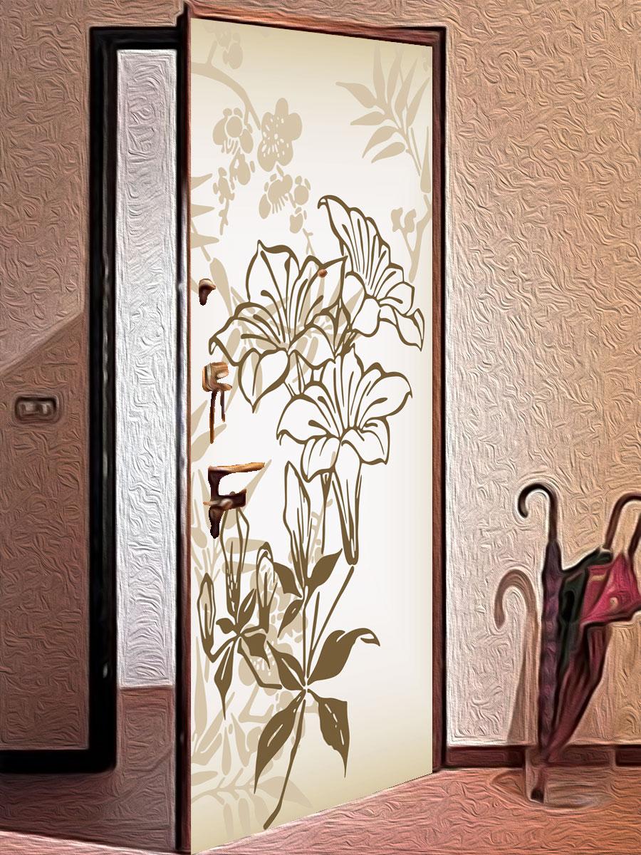 Стикер на дверь - Луговые цветы