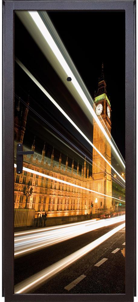 Наклейка на дверь - Вечерний Лондон | магазин Интерьерные наклейки