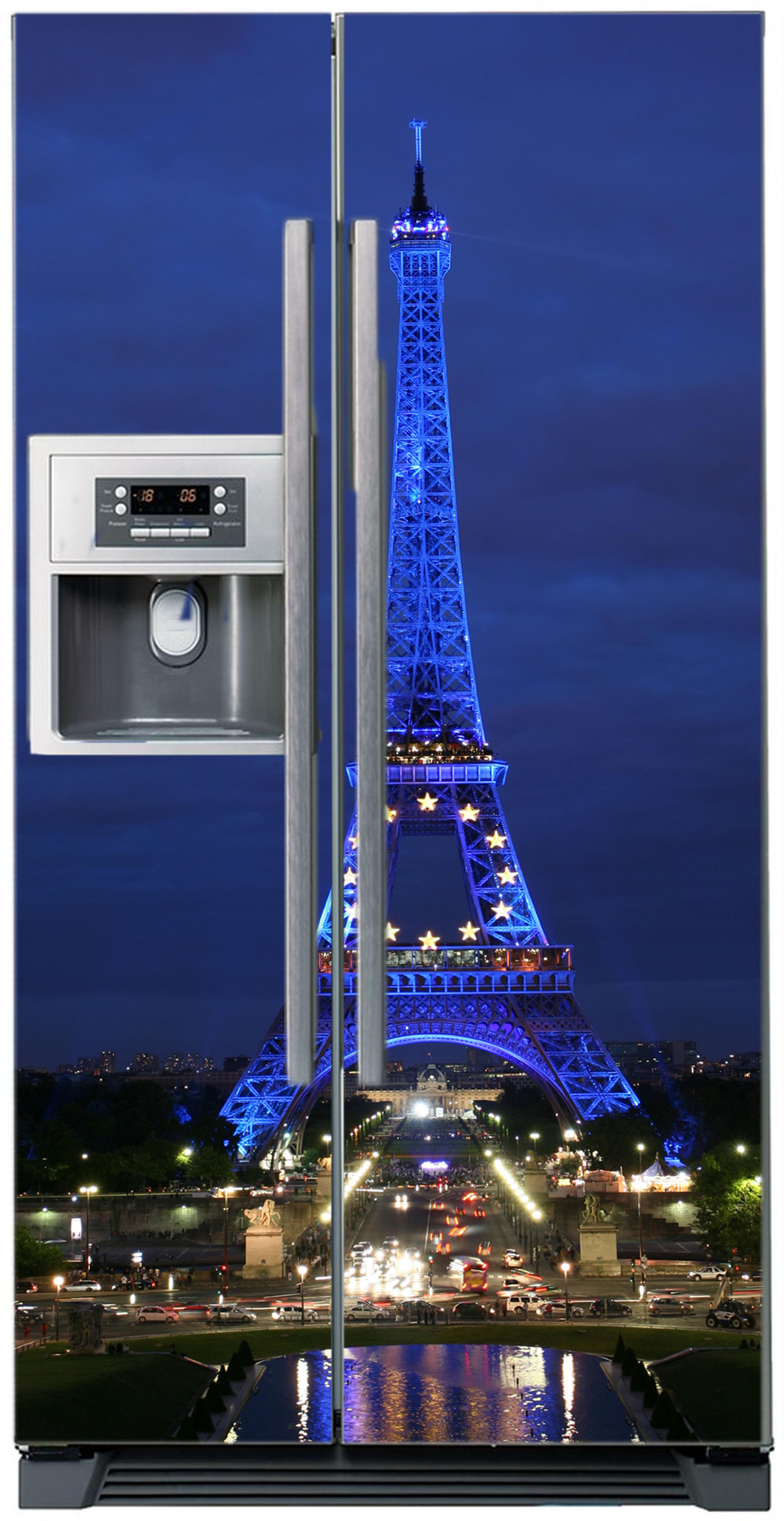 наклейки на холодильник. Стикер Париж 2