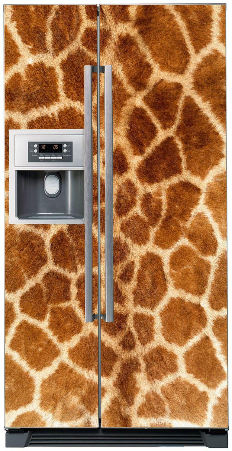 Наклейка на холодильник - Мех жирафа. http://stickers-fridge.com/