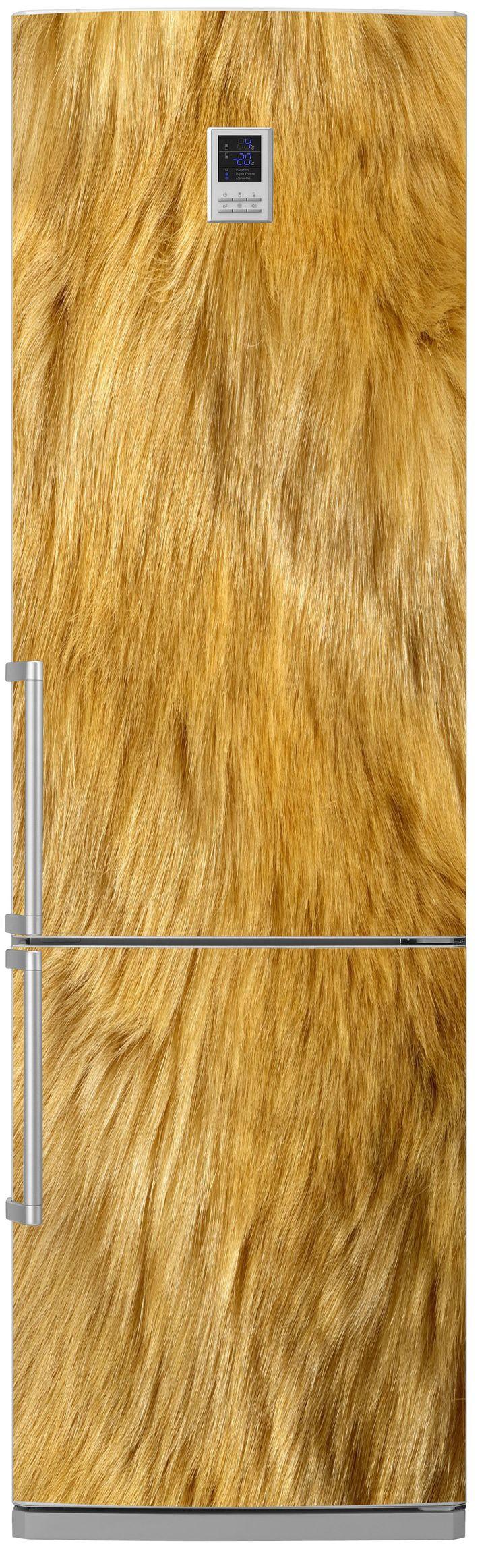 Виниловая наклейка на холодильник - Шерсть льва