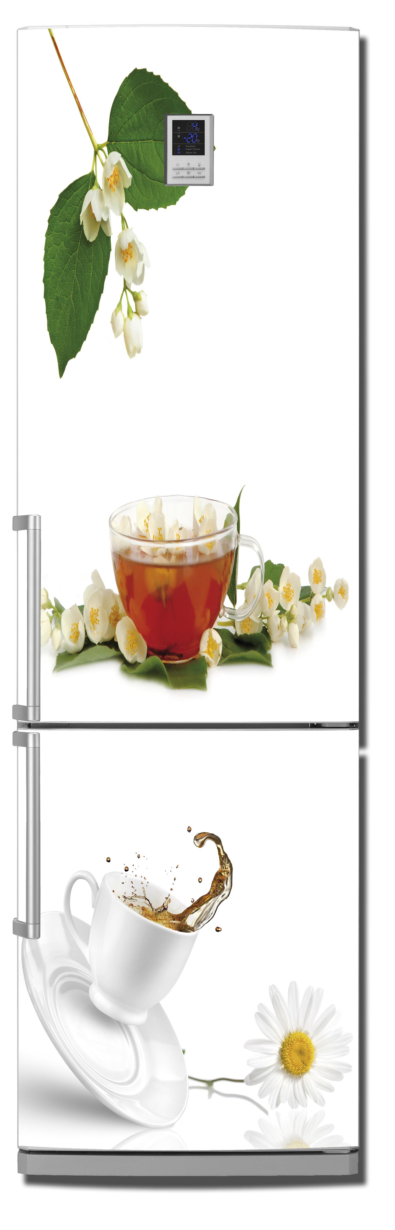 наклейка на холодильник - чай