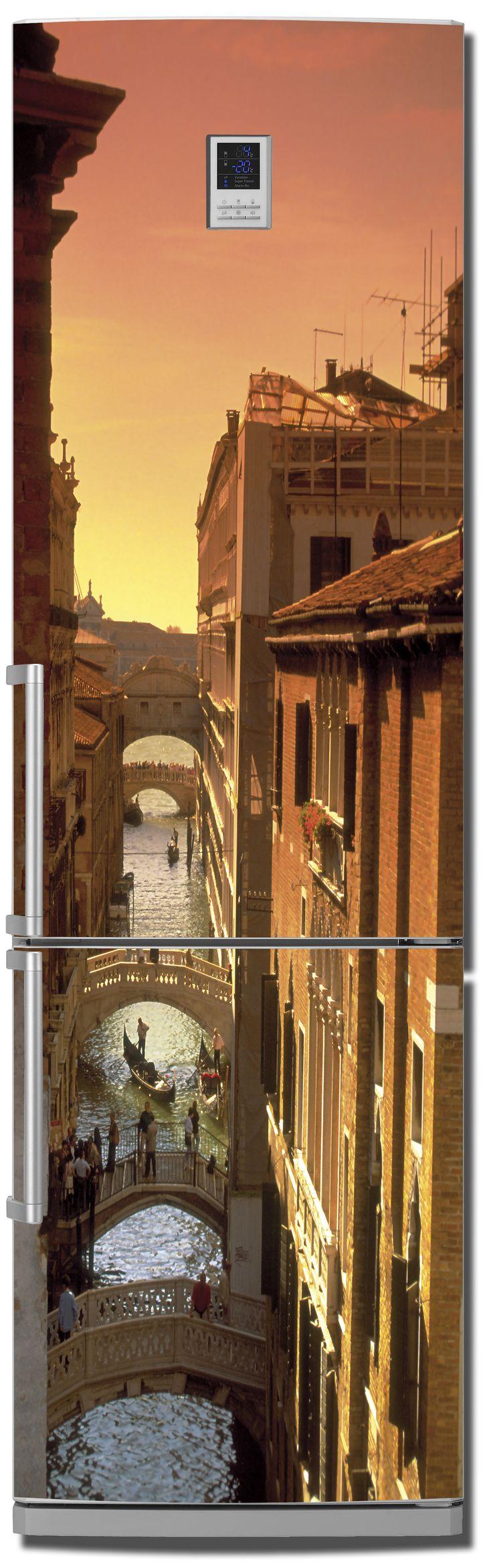 Наклейка на холодильник Венеция 3.