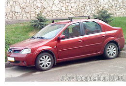 Багажник на крышу на Рено Логан в Уфе - Уфа-багажники.ру