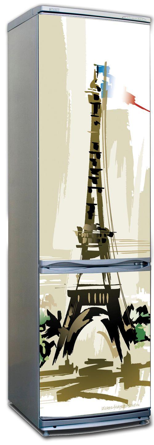 наклейка на холодильник Париж 3