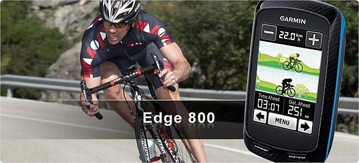 Посмотреть характеристики навигатора Garmin Edge 800 gps