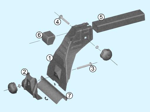 Схема сборки багажника на водостоки