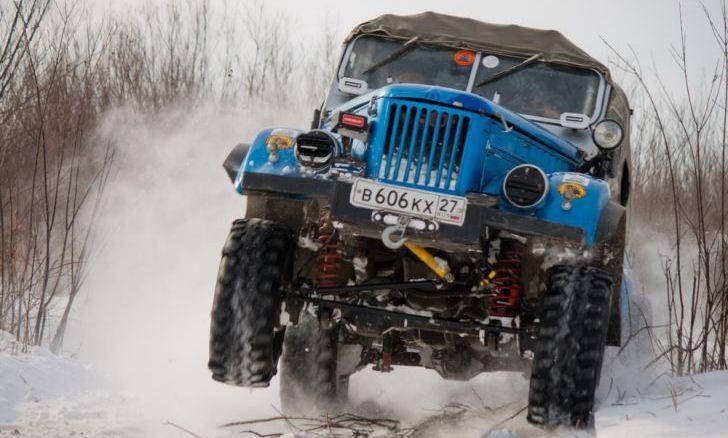 На трассе ГАЗ 69 Азаряна