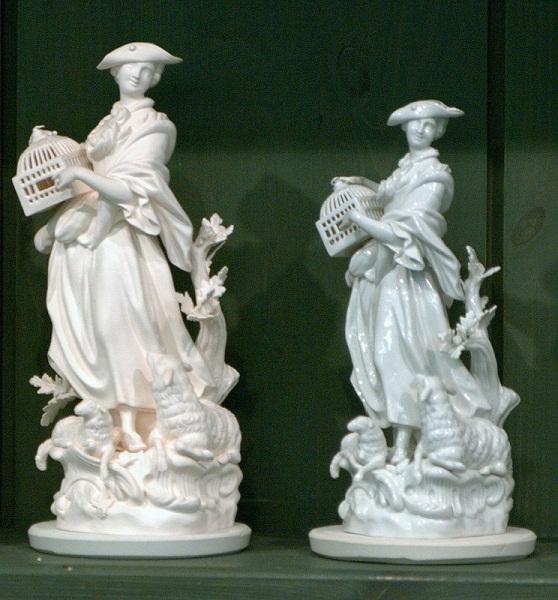 Усадка фарфоровых статуэток при обжиге. Музей Майссона.