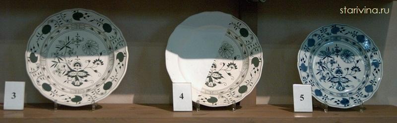 Этапы изготовления фарфоровой тарелки. Музей фабрики Майссен.