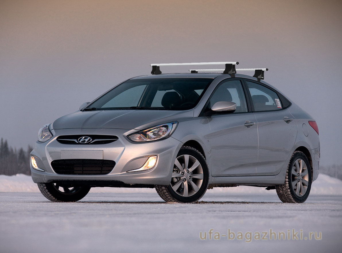 Багажник на крышу на Hyundai Solaris