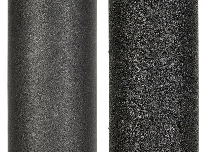 Сравнительное фото карбонблока Новая Вода и типичного распространенного на рынке карбонблока